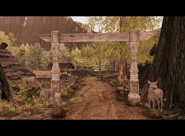 Village entrance - Heimili