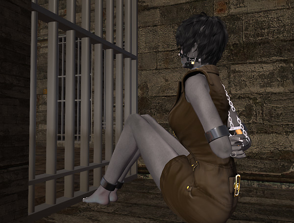 Chained behind bars