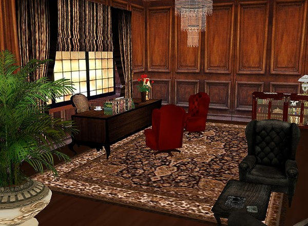 Elegant office room.