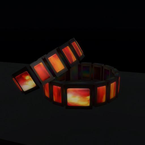 QT Male Mars wristband R black mcNT vendor image