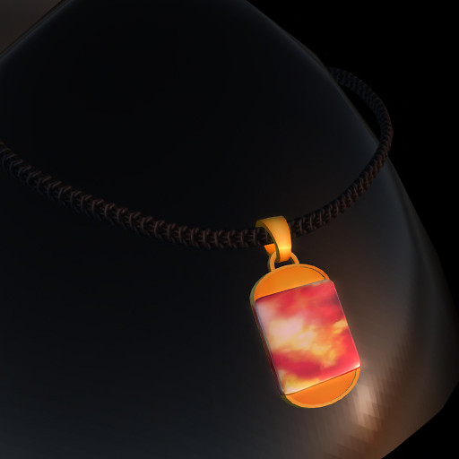 QT GL Male MARS Dog Tag 6am  - gold mcNT vendor image