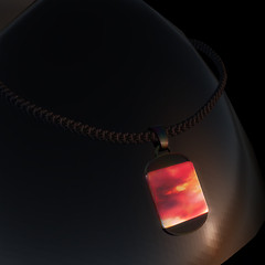 QT GL Male MARS Dog Tag 6am  - black mcNT vendor image