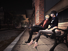 Chatting on a Bench