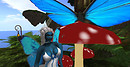 Spending time with my winged friends, and one very nose-y butterfly!