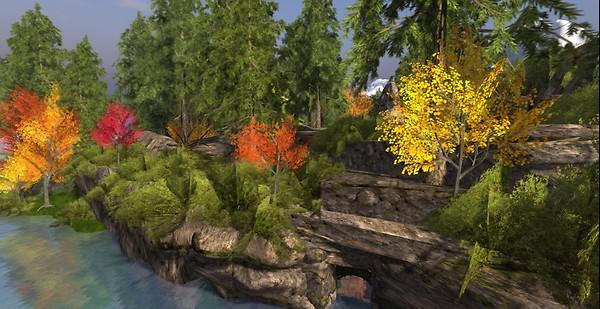 Calas Galadhon Autumn colors
