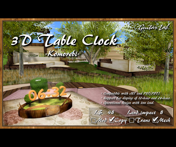 3D Table Clock