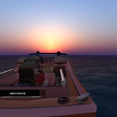 Q&M motoring into the sunrise I'z Ocean 49 copy
