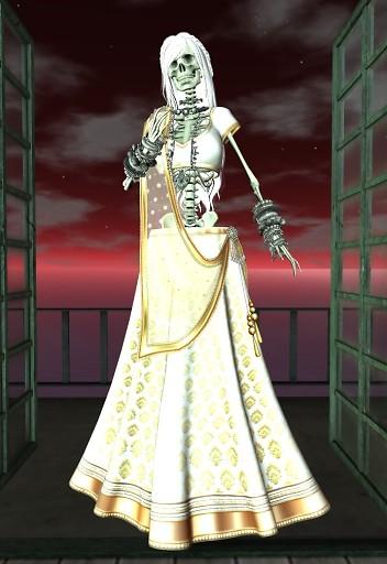 Night Walking Wearing The Skeleton Body 2