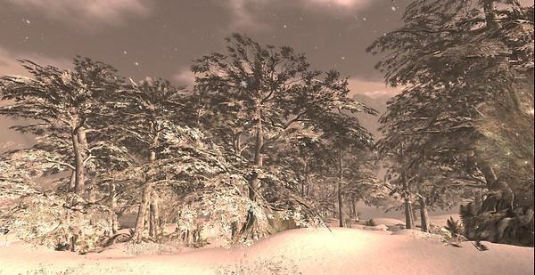Calas Galahon White Christmas Snowfall