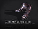 Ankle Monk Strap Boots - New Product Release Notice/POP Slides