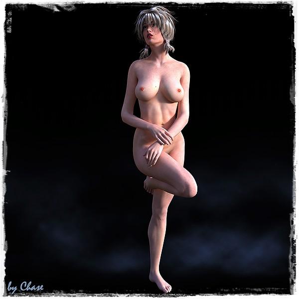 Gabi nude with leg up