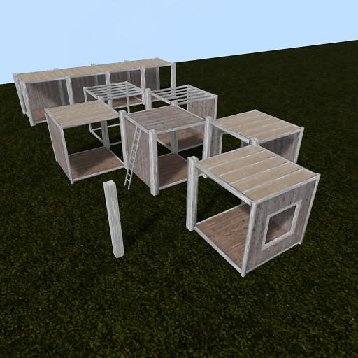 QT P2S Shabby Modular Stall system vendor image