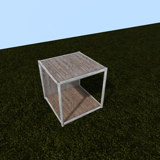 QT P2S Shabby modular stall roof mid vendor image