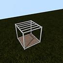 QT P2S Shabby modular stall frame open vendor image