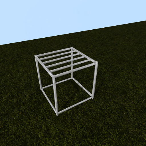 QT P2S Shabby modular stall empty frame vendor image
