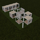 QT P2S Modular stall system FATPACK packing & units