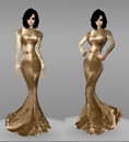 [VG] Gold Mermaid Dress