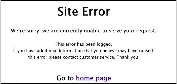 Site Error