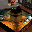 QT ISM SHOP - hidden & Mystic Vases +Mat display
