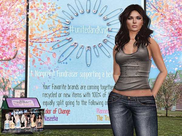 #UnitedAndKind Fundraiser in Second Life