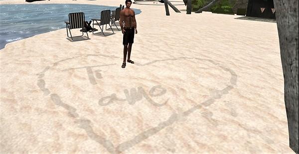 Not so secret sand message