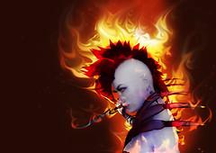 open flames