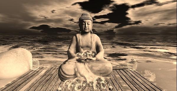 Winter Moon - Buddha