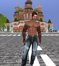 Myself at Red Square Moscow island sim