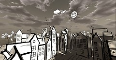 Drawn Town 2 by Cica Ghost_morning town