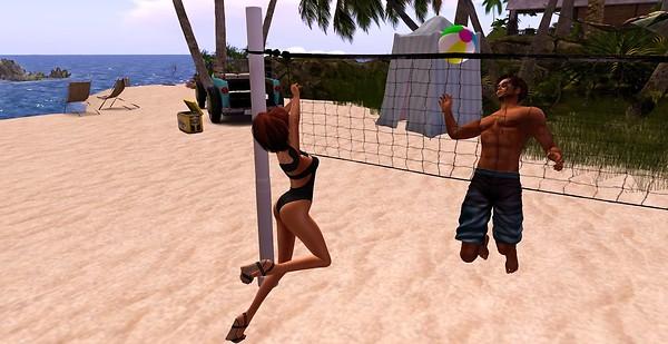 beach fun volley ball save