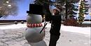 finishing touches on Frosty