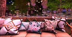 the lifted mist - Serenity Gardens pillows