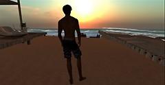 sunset on Serene Beach
