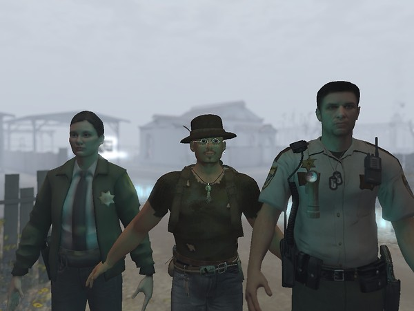 Posing with Sheriffs