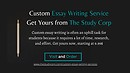 Custom Essay Writing Service | Get Yours from - The Study Corp
